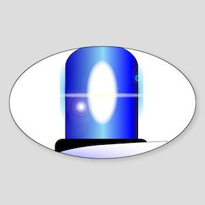 Police Blue Light Sticker