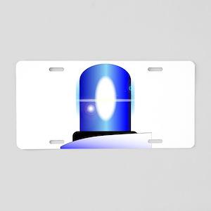 Police Blue Light Aluminum License Plate