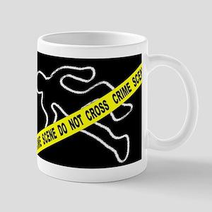 Crime Scene Chalk Mark Mugs