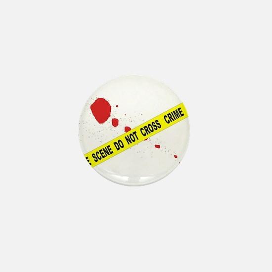 Crime Scene Do Not Cross Mini Button