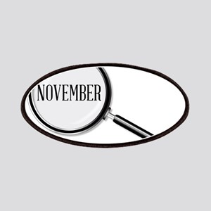 November Magnifying Glass Patch