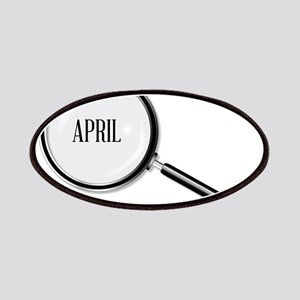 April Magnifying Glass Patch