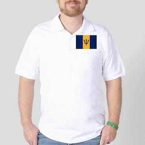 Barbados Flag Golf Shirt