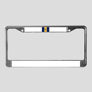 Barbados Flag License Plate Frame