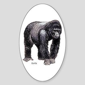 Gorilla Ape Oval Sticker