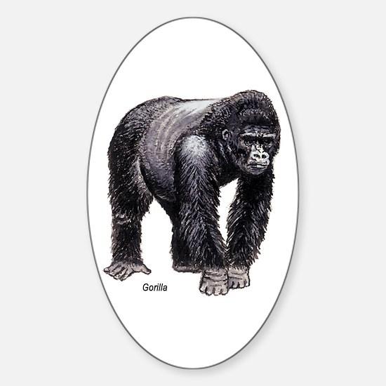 Gorilla Ape Oval Decal