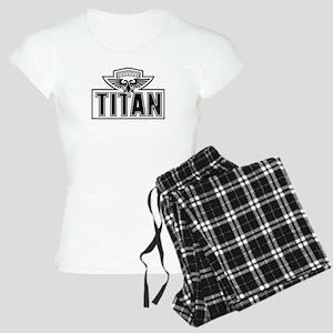 Titan Logo BW Women's Light Pajamas