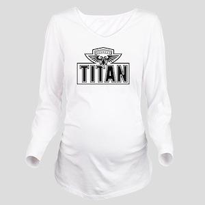 Titan Logo BW Long Sleeve Maternity T-Shirt