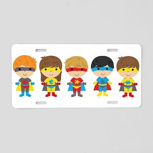 Autism Superheroes Aluminum License Plate