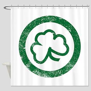 Shamrock Leaf Stamp Shower Curtain