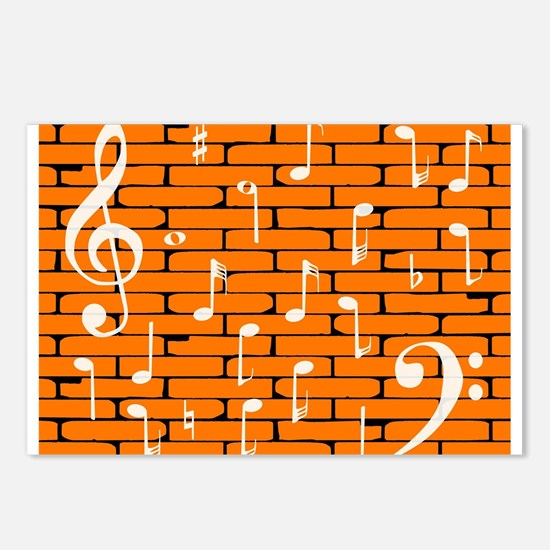 Music Wall Background Postcards (Package of 8)