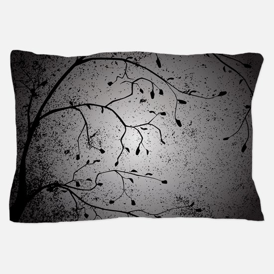 Dark Branch With Leaves Pillow Case