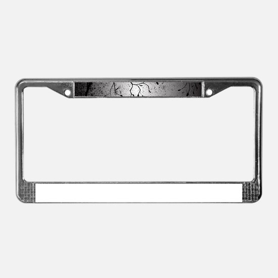 Dark Branch With Leaves License Plate Frame