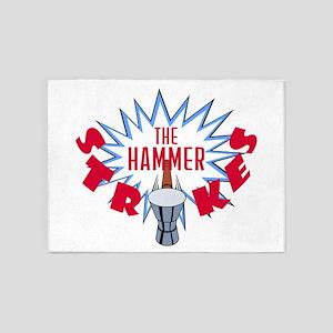 The Hammer Strikes - Logo 5'x7'Area Rug