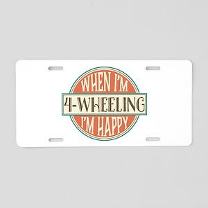 4-Wheeling Gift 4-Wheeler Aluminum License Plate