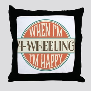 4-Wheeling Gift 4-Wheeler Throw Pillow