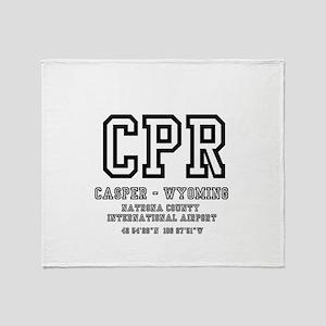 AIRPORT CODES - CPR - CASPER, WYOMIN Throw Blanket