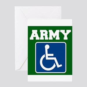 Army Handicapped Disabled Greeting Cards