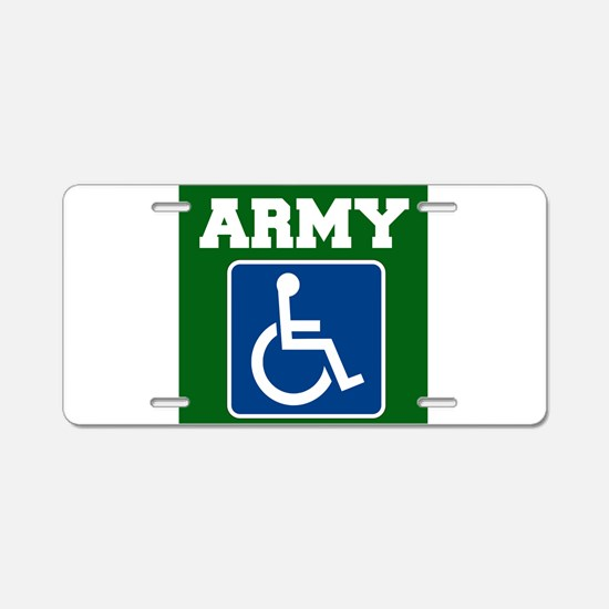 Army Handicapped Disabled Aluminum License Plate