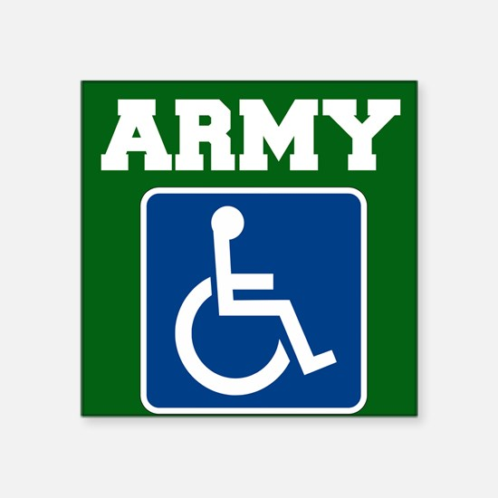 Army Handicapped Disabled Sticker