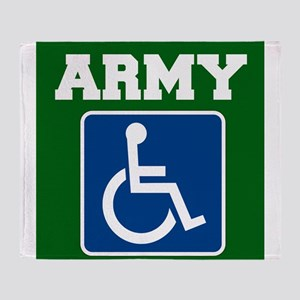 Army Handicapped Disabled Throw Blanket