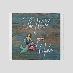 Mermaid World Throw Blanket
