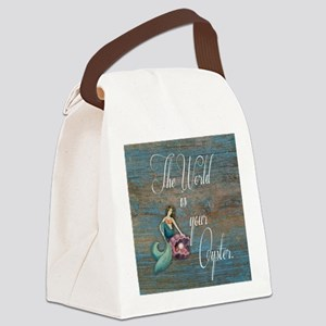 Mermaid World Canvas Lunch Bag