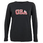 USA Plus Size Long Sleeve Tee
