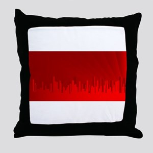 City Redscape Throw Pillow