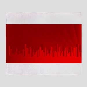 City Redscape Throw Blanket