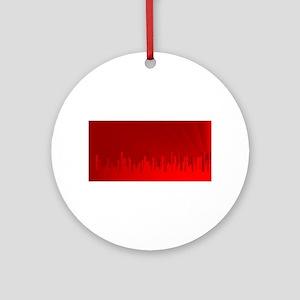 City Redscape Round Ornament