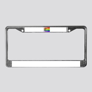 Rainbow Wall Illinois License Plate Frame