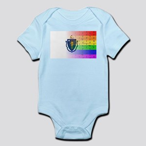 Rainbow Wall Massachusette Body Suit