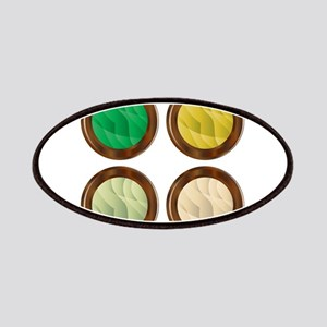 Wooden Foliage Style Buttons Patch