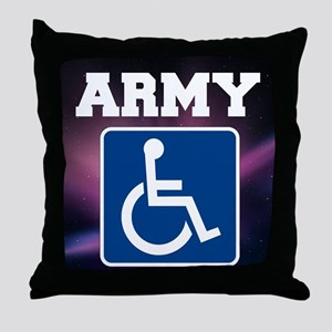 Army Handicapped Disabled Throw Pillow