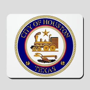Houston City Seal Mousepad