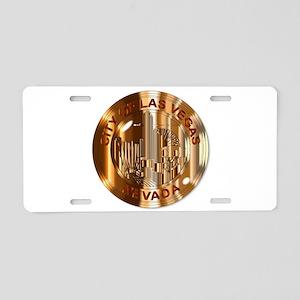 Las Vegas City Brass Seal Aluminum License Plate