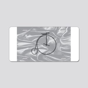 Penny Farthing On A Silk Fl Aluminum License Plate