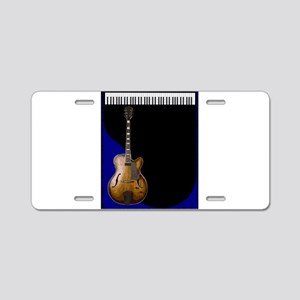 Guitar And Piano Background Aluminum License Plate