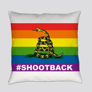 Rainbow Gadsden S-B Everyday Pillow