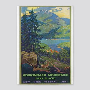 Adirondack Mountains.lake Placid, 5'x7'are