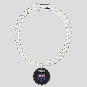Iceland Pennant with hig Charm Bracelet, One Charm
