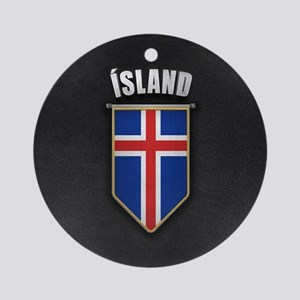 Iceland Pennant with high quality l Round Ornament
