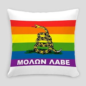 Rainbow Gadsden Labe Everyday Pillow