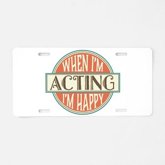 Happy Actor Aluminum License Plate