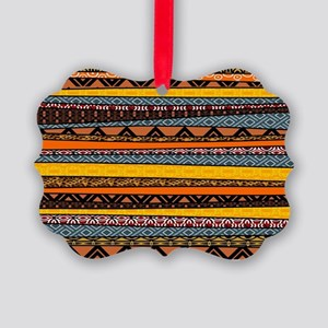 Colorful African Pattern Mix Picture Ornament