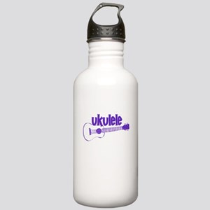 Purple Ukulele Water Bottle