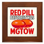 MGTOW RED PILL Framed Tile