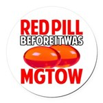 MGTOW RED PILL Round Car Magnet
