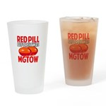 MGTOW RED PILL Drinking Glass
